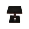 Scena Square Small Dark Wood Side Table 3