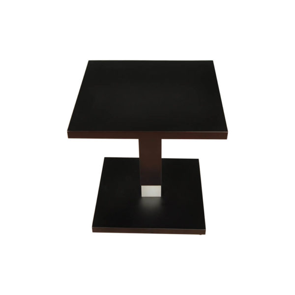 Scena Square Small Dark Wood Side Table Top View