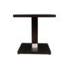 Scena Square Small Dark Wood Side Table 4