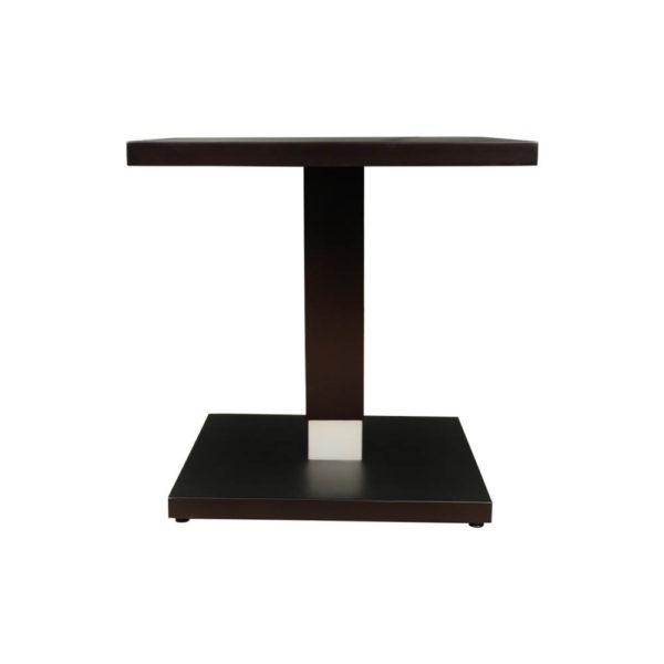 Scena Square Small Dark Wood Side Table View