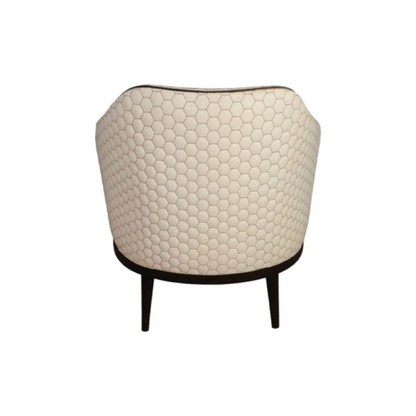 Sheila Upholstered High Backed Armchair Back
