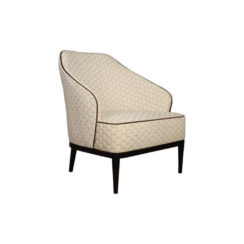Sheila Upholstered High Backed Armchair Side View