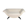 Tulip Upholstered Curved Shaped Sofa with Black Legs 4