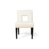 Acton Upholstered Dining Chair with Wooden Black Legs 1