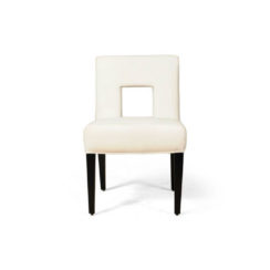 Acton Upholstered Dining Chair with Wooden Black Legs