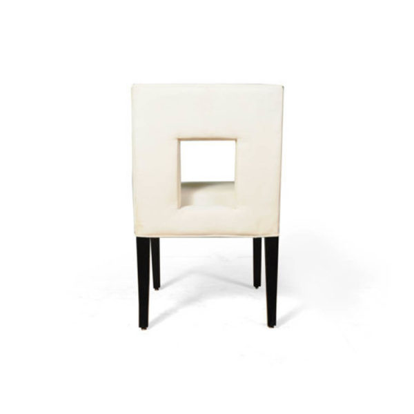 Acton Upholstered Dining Chair with Wooden Black Legs Back