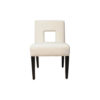 Acton Upholstered Dining Chair with Wooden Black Legs 4