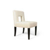 Acton Upholstered Dining Chair with Wooden Black Legs 2