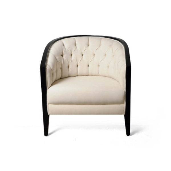 Azure Upholstered with Wooden Frame Armchair