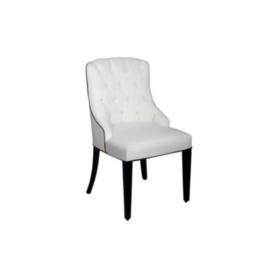 Julies Upholstered Tufted Back Dining Chair Side View