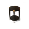 Alany Dark Brown Side Table with Brass Inlay 1