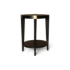 Alany Dark Brown Side Table with Brass Inlay 5