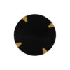 Alany Dark Brown Side Table with Brass Inlay 4