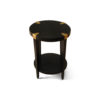 Alany Dark Brown Side Table with Brass Inlay 2