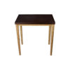 Amoir Small Brown Side Table With Golden Legs 1