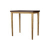 Amoir Small Brown Side Table With Golden Legs 4