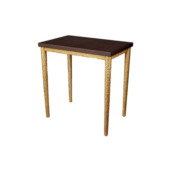 Amoir Small Brown Side Table With Golden Legs Side