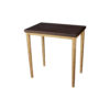 Amoir Small Brown Side Table With Golden Legs 2