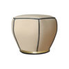 Bethy Upholstered Living Room Pouf with Brass Inlay 2