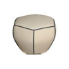 Bethy Upholstered Living Room Pouf with Brass Inlay 4