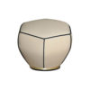 Bethy Upholstered Living Room Pouf with Brass Inlay 3
