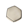 Bethy Upholstered Living Room Pouf with Brass Inlay 5