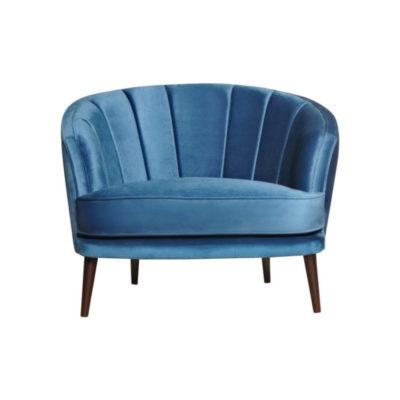 Gena Armchair Blue Velvet