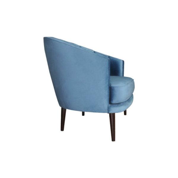Gena Armchair Blue Velvet Right Side View