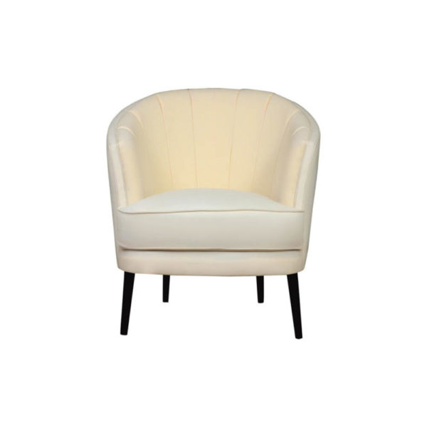 Gena Armchair Calico Front View