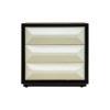 Kvadrat Dark Brown and Cream Gloss Bedside Table 1