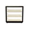Kvadrat Dark Brown and Cream Gloss Bedside Table 3