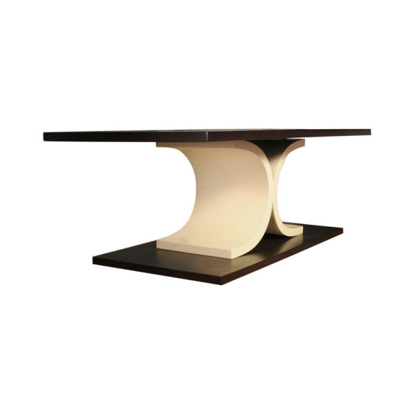 Sintia Contemporary Wood Coffee Table Beside View