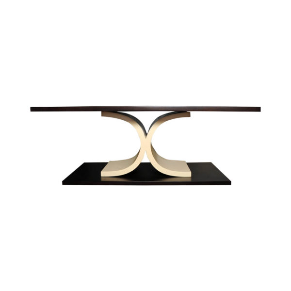 Sintia Contemporary Wood Coffee Table Front View