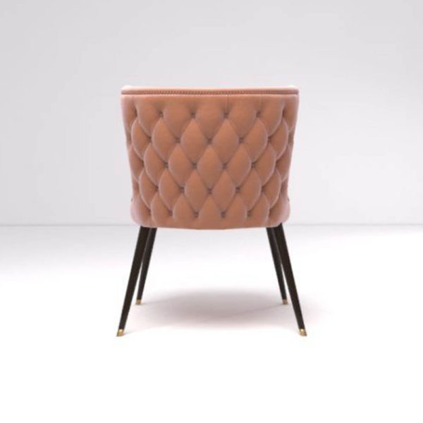 Akai Upholstered Tufted Dining Chair Back
