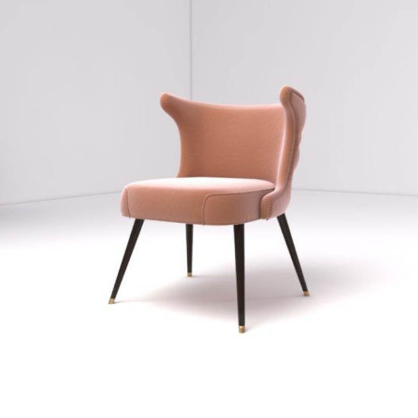 Akai Upholstered Tufted Dining Chair Beside View