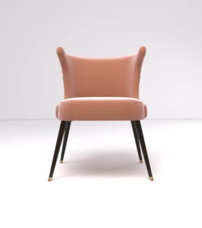 Akai Upholstered Tufted Dining Chair Front