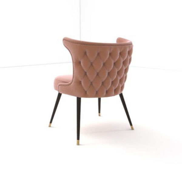 Akai Upholstered Tufted Dining Chair Side