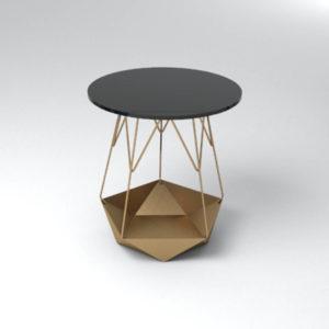 Alansky Side Table Gold