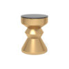 Alexa Gold Round Bedside Table with Drawer 3