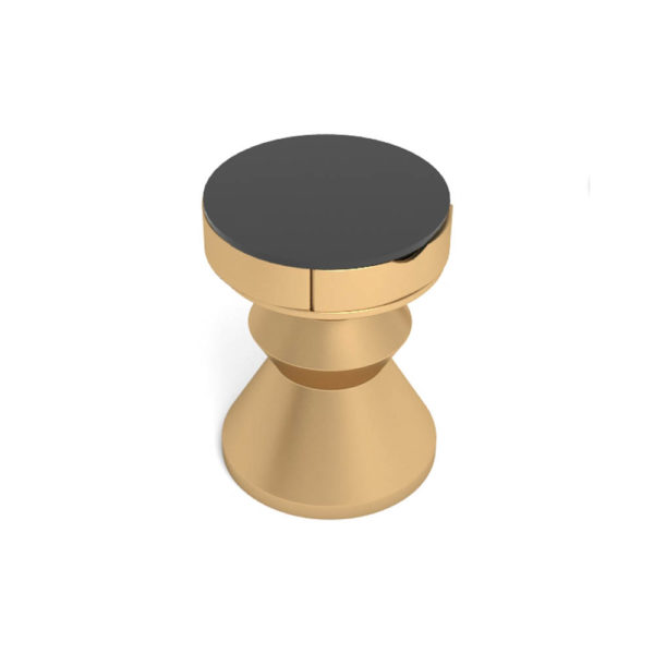 Alexa Gold Round Bedside Table with Drawer Circle Top