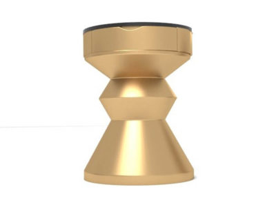 Alexa Gold Round Bedside Table with Drawer Round Shape