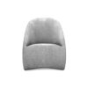 Alicia Upholstered Curved Tub Accent Chair 1