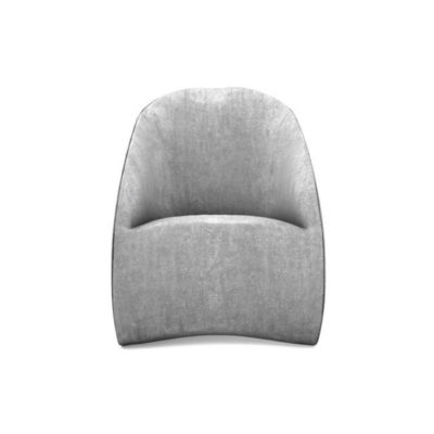 Alicia Upholstered Curved Tub Accent Chair