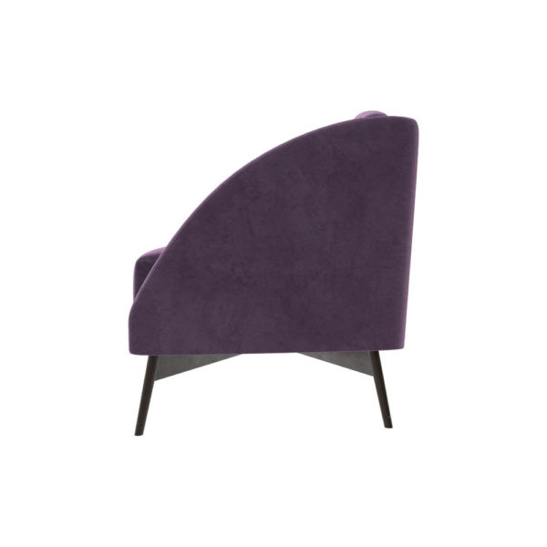 Alina Upholstered Striped Sofa Left Side View