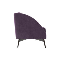 Alina Upholstered Striped Sofa Right Side View