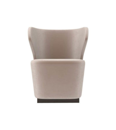 Anna Upholstered Wingback Accent Chair A
