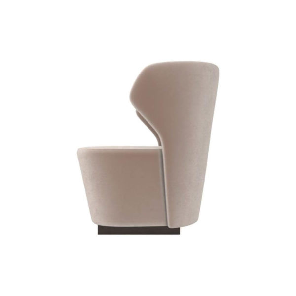 Anna Upholstered Wingback Accent Chair Left Side View C