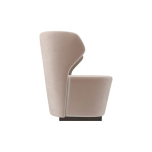 Anna Upholstered Wingback Accent Chair Right Side View B