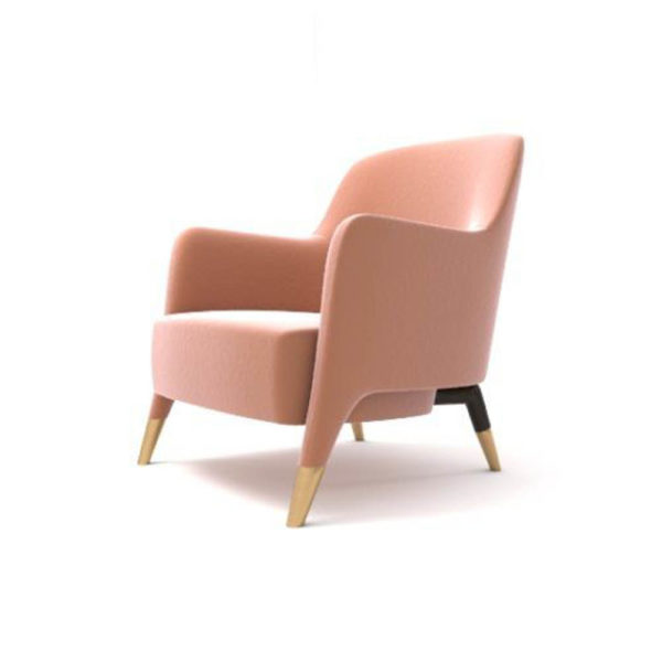 Annely Upholstered Armchair Beside View