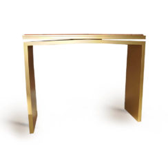Arch Gold Marble Top Console Table Back View